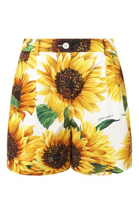 Женские хлопковые шорты DOLCE & GABBANA желтого цвета, арт. FTAVNT/HS5EB | Фото 1