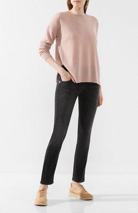 Женская кашемировый свитер LE KASHA розового цвета, арт. CRETE00   Фото 2