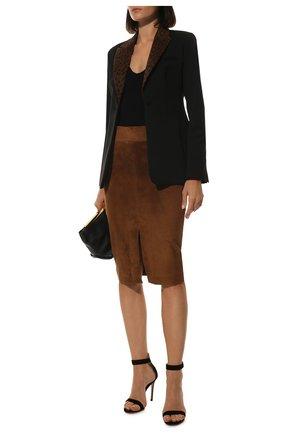 Женская замшевая юбка TOM FORD коричневого цвета, арт. GCL780-LEX226 | Фото 2