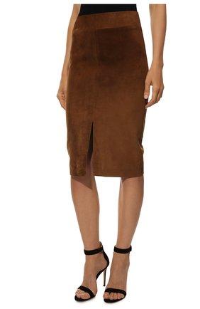 Замшевая юбка | Фото №3