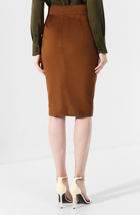 Замшевая юбка | Фото №4