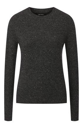 Женская кашемировый пуловер ISABEL MARANT темно-серого цвета, арт. PU1078-19A030I/CRUZ | Фото 1