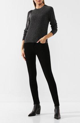 Женская кашемировый пуловер ISABEL MARANT темно-серого цвета, арт. PU1078-19A030I/CRUZ | Фото 2