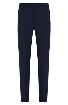 Мужской хлопковые брюки BERLUTI темно-синего цвета, арт. R16TCU57-002 | Фото 1