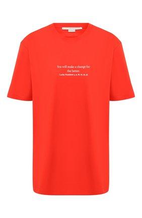 Женская хлопковая футболка STELLA MCCARTNEY красного цвета, арт. 381701/SMW82   Фото 1