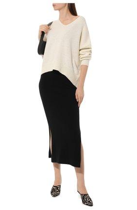 Женская юбка из смеси шерсти и кашемира MARKUS LUPFER черного цвета, арт. KN2609 | Фото 2
