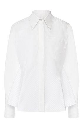 Женская хлопковая рубашка VICTORIA, VICTORIA BECKHAM белого цвета, арт. SHVV 162A PAW19 STRIPED SHIRTING | Фото 1