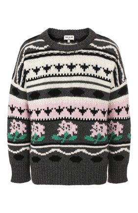 Женский свитер из смеси шерсти и кашемира PAUL&JOE разноцветного цвета, арт. KBIG | Фото 1