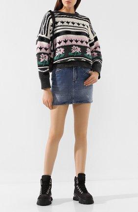 Женский свитер из смеси шерсти и кашемира PAUL&JOE разноцветного цвета, арт. KBIG   Фото 2