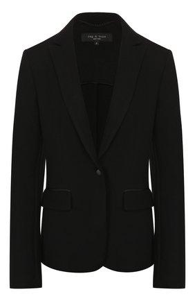 Женский шерстяной жакет RAG&BONE черного цвета, арт. W292421PH   Фото 1