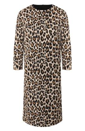 Женское платье с принтом ESCADA леопардового цвета, арт. 5031687 | Фото 1