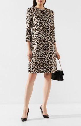 Женское платье с принтом ESCADA леопардового цвета, арт. 5031687 | Фото 2