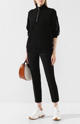 Женская шерстяной свитер ERMANNO ERMANNO SCERVINO черного цвета, арт. 45T FL11 PAS   Фото 2