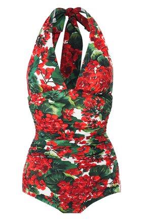 Женский слитный купальник DOLCE & GABBANA красного цвета, арт. 09A06J/FSG0Y | Фото 1