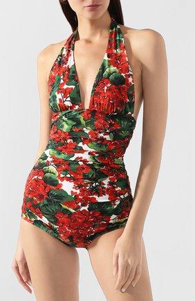 Женский слитный купальник DOLCE & GABBANA красного цвета, арт. 09A06J/FSG0Y | Фото 2