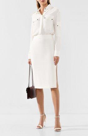 Женское платье из вискозы TOM FORD белого цвета, арт. AB2627-FAX056 | Фото 2