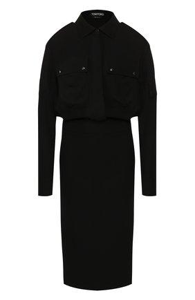 Женское платье из вискозы TOM FORD черного цвета, арт. AB2627-FAX056 | Фото 1