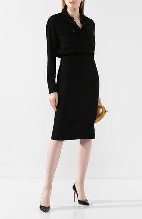 Женское платье из вискозы TOM FORD черного цвета, арт. AB2627-FAX056 | Фото 2
