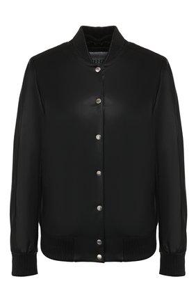 Женский кожаный бомбер KENZO черного цвета, арт. F962BL9247AB | Фото 1