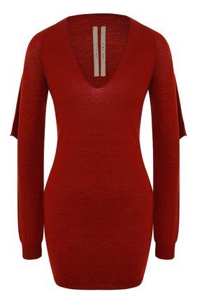 Женская шерстяной пуловер RICK OWENS бордового цвета, арт. R019F5693/M   Фото 1