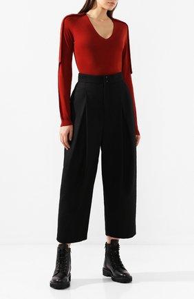 Женская шерстяной пуловер RICK OWENS бордового цвета, арт. R019F5693/M   Фото 2
