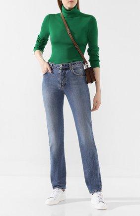 Женские джинсы MSGM синего цвета, арт. 2742MDP149LC 195993 | Фото 2