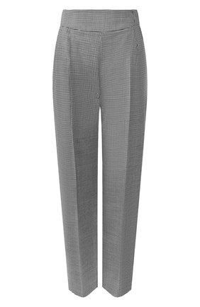 Женские шерстяные брюки MSGM черно-белого цвета, арт. 2742MDP112A 195813 | Фото 1