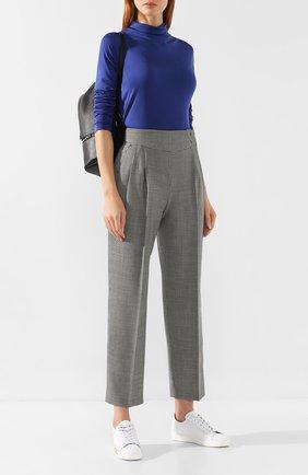 Женские шерстяные брюки MSGM черно-белого цвета, арт. 2742MDP112A 195813 | Фото 2