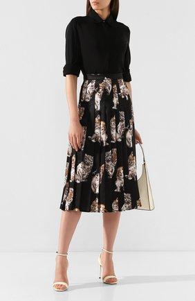 Женская юбка с принтом MSGM черного цвета, арт. 2741MDD21P 195663 | Фото 2