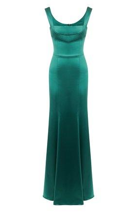 Женское платье-макси DOLCE & GABBANA зеленого цвета, арт. F6G40T/FURHH | Фото 1
