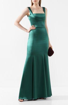 Женское платье-макси DOLCE & GABBANA зеленого цвета, арт. F6G40T/FURHH | Фото 2