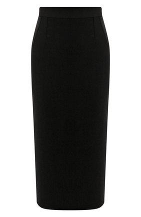 Женская юбка-миди DOLCE & GABBANA черного цвета, арт. F4BQ5T/FURF0 | Фото 1