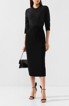 Женская юбка-миди DOLCE & GABBANA черного цвета, арт. F4BQ5T/FURF0 | Фото 2