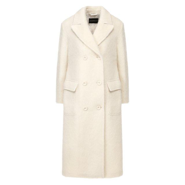 Двубортное пальто Emporio Armani