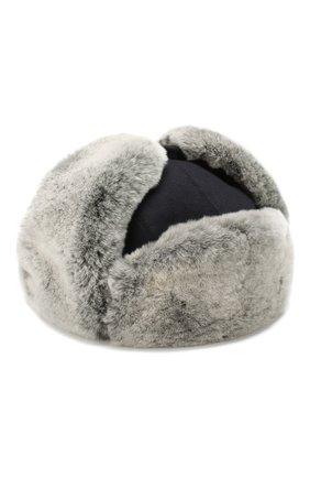 Кашемировая шапка с мехом кролика | Фото №1