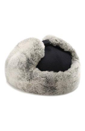 Кашемировая шапка с мехом кролика | Фото №2