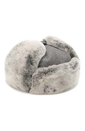 Мужская кашемировая шапка с мехом кролика ERMENEGILDO ZEGNA серого цвета, арт. Z6I22/B2H | Фото 1