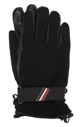 Мужские перчатки MONCLER черного цвета, арт. E2-097-00524-00-53063 | Фото 1