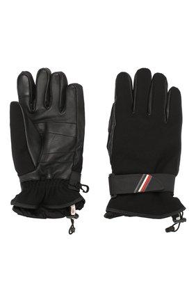 Мужские перчатки MONCLER черного цвета, арт. E2-097-00524-00-53063 | Фото 2