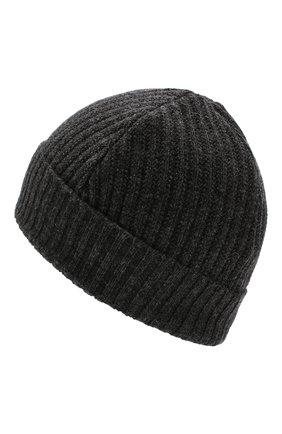 Мужская шерстяная шапка LUCIANO BARBERA серого цвета, арт. 109860/53328 | Фото 2