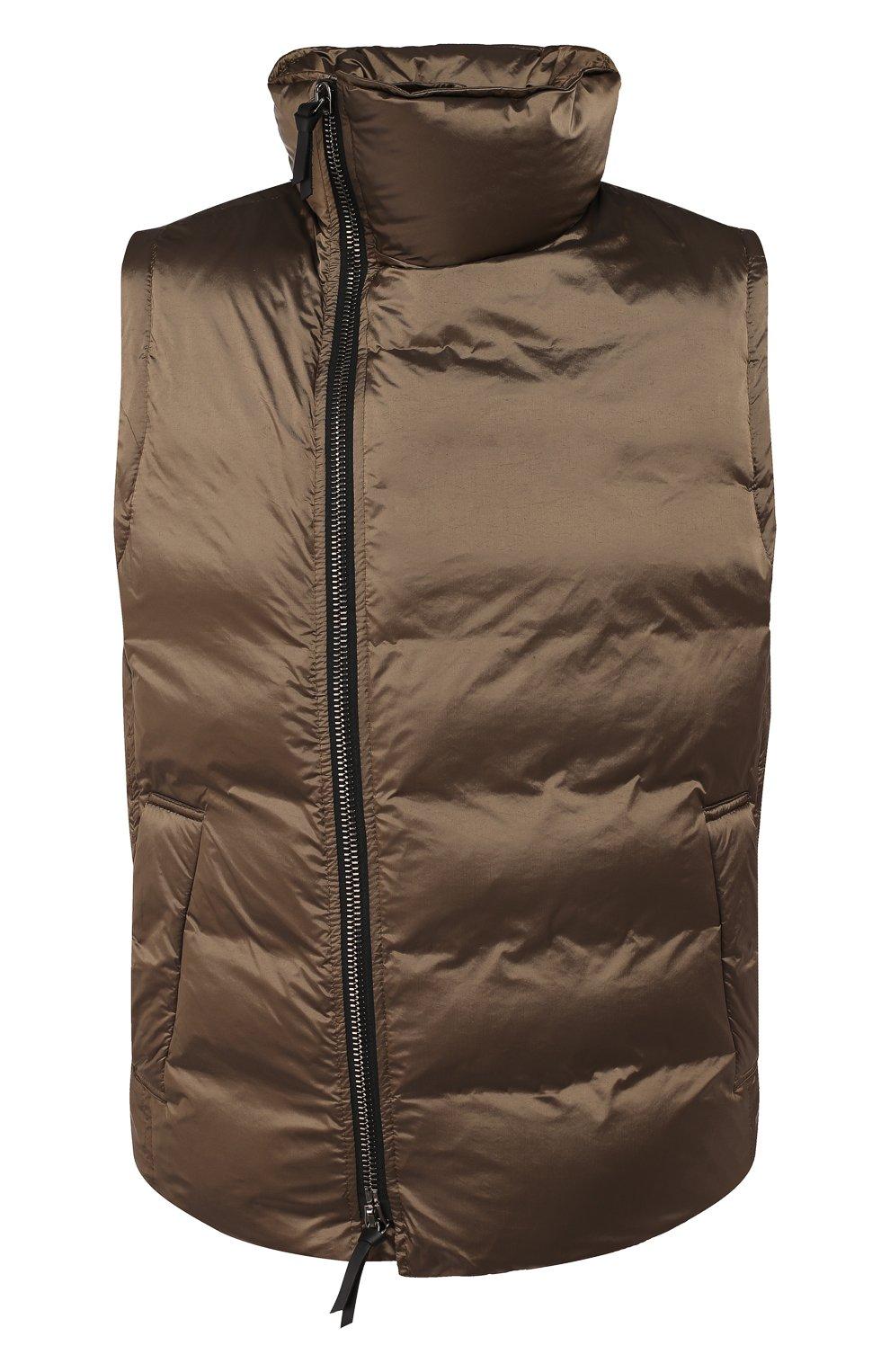 Мужской пуховый жилет GIORGIO ARMANI коричневого цвета, арт. 9WGGK014/T0189 | Фото 1