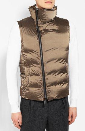 Мужской пуховый жилет GIORGIO ARMANI коричневого цвета, арт. 9WGGK014/T0189 | Фото 3