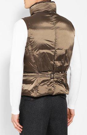 Мужской пуховый жилет GIORGIO ARMANI коричневого цвета, арт. 9WGGK014/T0189 | Фото 4