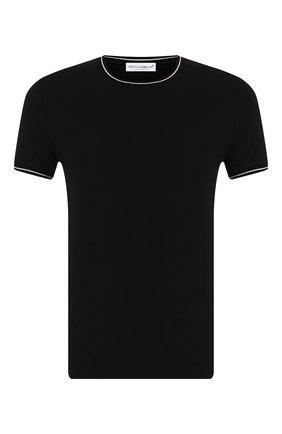 Мужские хлопковая футболка DOLCE & GABBANA черного цвета, арт. M8B69J/FUGHH | Фото 1