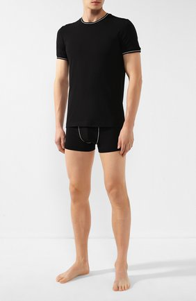 Мужские хлопковая футболка DOLCE & GABBANA черного цвета, арт. M8B69J/FUGHH | Фото 2