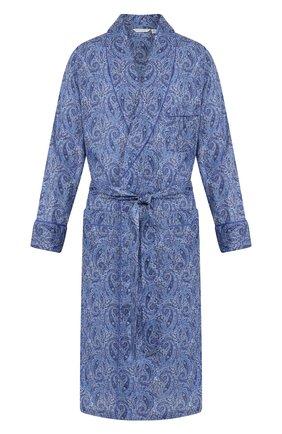 Мужской хлопковый халат ROBERTO RICETTI синего цвета, арт. VESTAGLIA R0BE/0R02313 | Фото 1