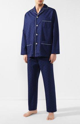 Мужская хлопковая пижама ROBERTO RICETTI темно-синего цвета, арт. VENEZIA/B2310 | Фото 1