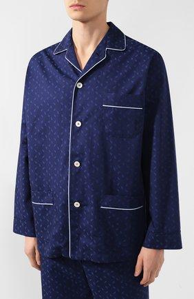 Мужская хлопковая пижама ROBERTO RICETTI темно-синего цвета, арт. VENEZIA/B2310 | Фото 2