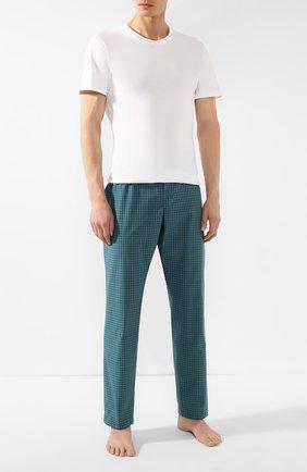 Мужские хлопковые домашние брюки ROBERTO RICETTI зеленого цвета, арт. PANTAPA/LXR902 | Фото 2