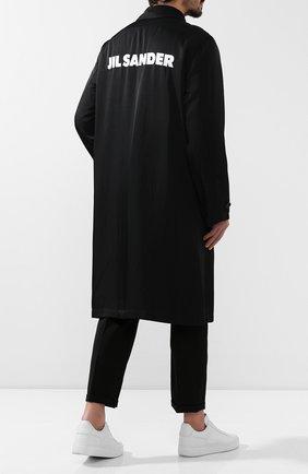 Мужской плащ из вискозы JIL SANDER черного цвета, арт. JSMP471131-MP392000 | Фото 2